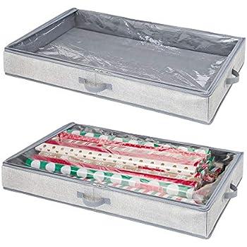 Amazon Com Mdesign Soft Fabric Gift Wrap Storage