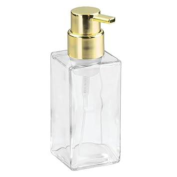 interdesign casilla modern foaming glass soap dispenser pump for kitchen bathroom vanities clear - Soap Dispenser Pumps