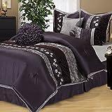 Nanshing RILEY-K-PUR 7 Pice Riley K-Bedding Set, Purple, King
