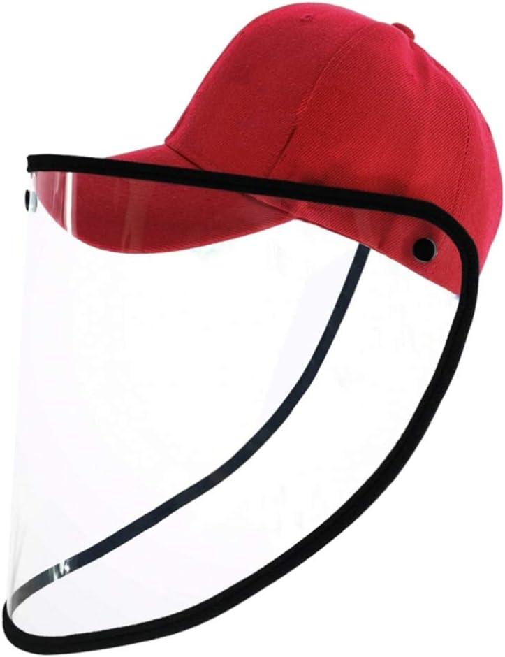 Hemoton Mascarilla Transparente Sombrero de Plástico Protector Protector Facial Protector de Policarbonato Máscara Anti Saliva Protección Completa Uv para Corcho Al Aire Libre (Azul)