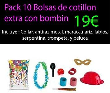Pack 10 bolsa de cotillon extra con bombin: Amazon.es: Juguetes y juegos