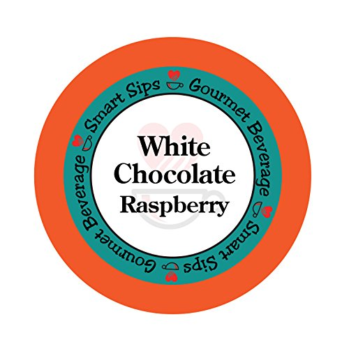 Smart Sips, White Chocolate Raspberry Gourmet Flavored Coffee, 24 Count, Compatible With All Keurig K-cup Machines (Decaf Coffee Raspberry)