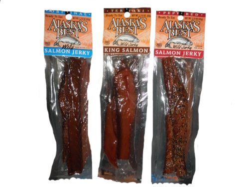 Smoked Salmon Jerky - Alaska Smoked King Salmon Jerky Sampler (3 Pack)
