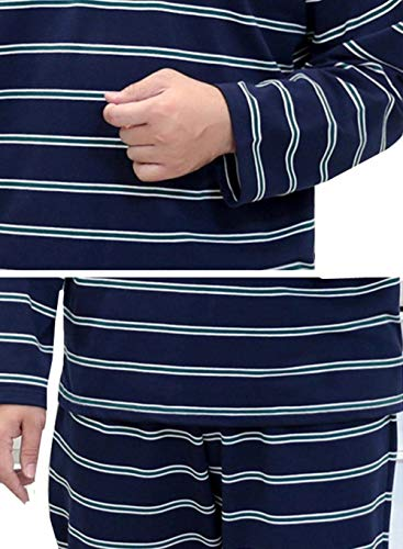 Rayas Chicos Hogar Sólido Manga Piezas Para De Pijamas Pijama Hombres Colour Dos Larga El Color Loungewear Ropa Conjunto Gran Clásico Tamaño A qBzwxzPp
