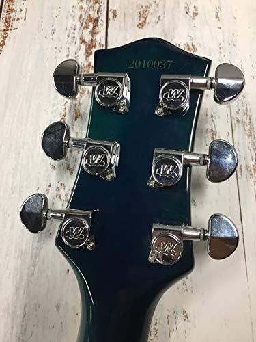 Wilkinson M/écanique Guitare 6 en ligne E-Z-LOK type pour ender Strat//Tele Style Guitare /électrique,Noir