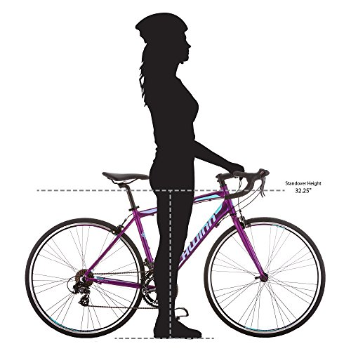 Schwinn Volare 1400 Road 700C Wheel Bicycle, Matte Purple, 48 cm/One Size by Schwinn (Image #6)