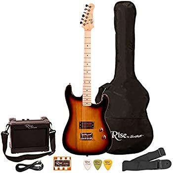 metallic blue junior kids mini 3 4 electric guitar amp starter pack guitar temolo. Black Bedroom Furniture Sets. Home Design Ideas