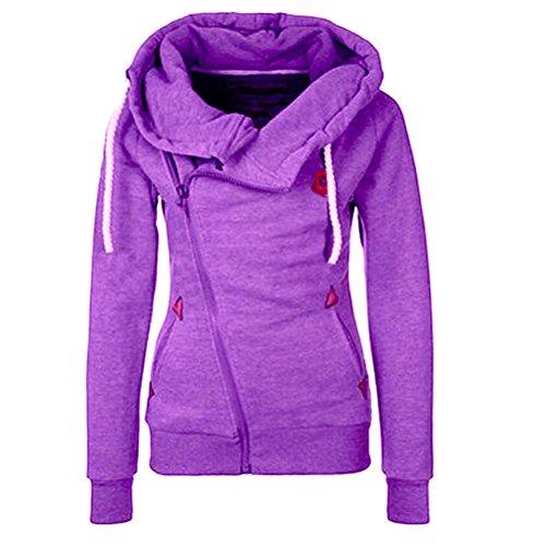 しがみつくローングラマーLinyuan ファッション Women's Stylish Slim Warm Hooded トレーナー Sweatshirt Zipper Coat Jacket Outwear #1111
