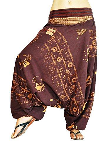 virblatt Drop Crotch Pants Patterned Harem Pants for Women and Men (S-L) - AllesImWunderland -