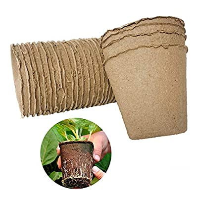 Ruipunuosi 100PCS 88cm Nursery Pot Environmental Protection Degradable Seedling Cup Paper Garden Supplies Durable Home Balcony Garden Flower Pot: Garden & Outdoor