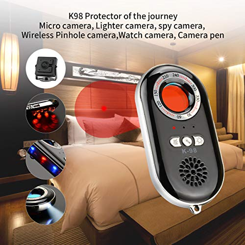 RXAMYDE Personal Security Alarm Anti Spy Hidden Camera Detector RF Bug Detector Wireless Signal Scanner, Security Motion Vibration Sensor for Travel, Home, Woman, Men, Girls