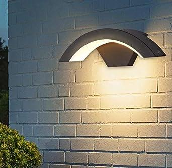 18W Bridgelux COB Escaleras//Jard/ín//Porche Gris Blanco c/álido Topmo-plus L/ámpara pared al aire libre Ba/ñadores de pared jard/ín en Moda Luz pared terrazas aluminio 90 grados Giratorio