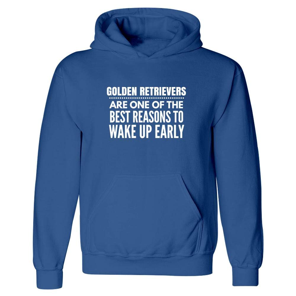 Reasons to Wake Up Early Puppy Design Canine Golden Retrievers Gift Idea Hoodie Dog Present
