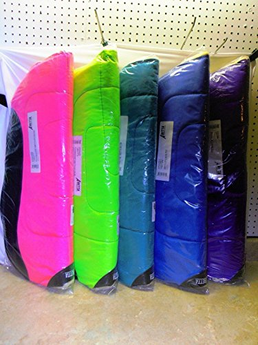 ABETTA Round Fleece Back Shock Absorbing Cordura Barrel Saddle Pad (Purple)