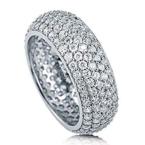 BERRICLE Rhodium Plated Sterling Silver Cubic Zirconia CZ