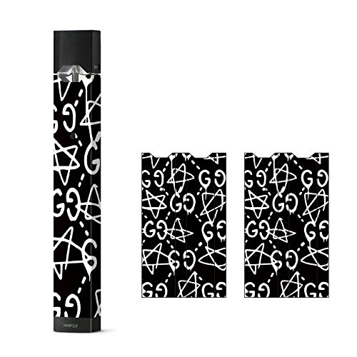 JaySkins GG Stars Black & White Designer Juul Skin Decal Sticker Wrap Protective Case for (Products Decal)