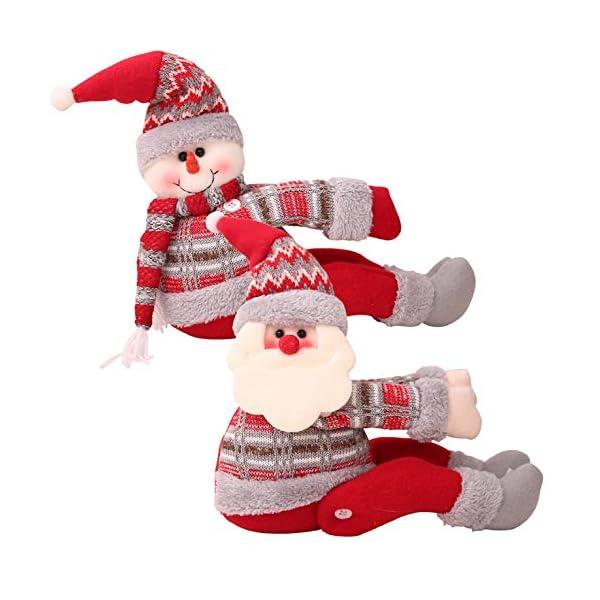 UMIPUBO Natale Sipario Fibbia in Velcro,Bambola di Natale,Fibbia Tenda Natalizia Babbo Natale Alce Pupazzo di Neve,Fissaggio Tende Fibbie,Decorazioni Natalizie, 1 spesavip