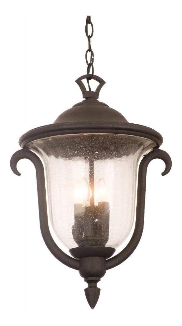 Three Light Burnished Bronze Hanging Lantern Burnished Bronze