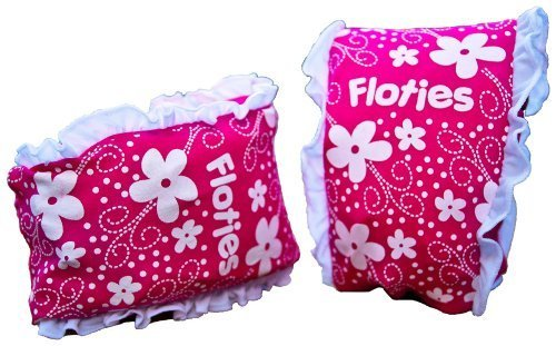 Girls Floatsafe Flotie Soft Fabric Armbands floatie, Pink