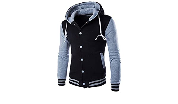 YouzhiWan007 New Men/Boy Baseball Jacket Men New Fashion Design Wine Red Mens Slim Fit College Varsity Jacket Men Brand Stylish Veste Homme 435Gray XL at ...