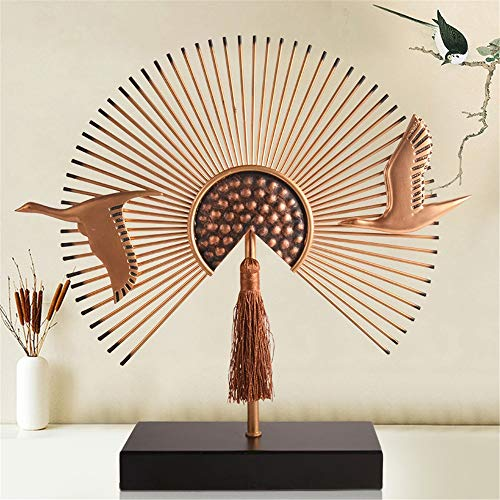 FECTY Fan-Shaped New Chinese Ornaments Living Room Office Creative Home Decoration Ornaments Home Decorations Home Decoration (Color : 37934cm) by FECTY (Image #2)