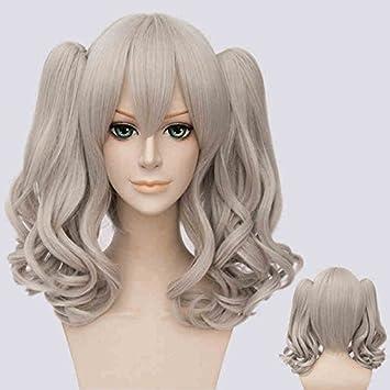 """16"""" Lolita gris largo y rizado Clip en colas de caballo mujeres Natural resistente al"""