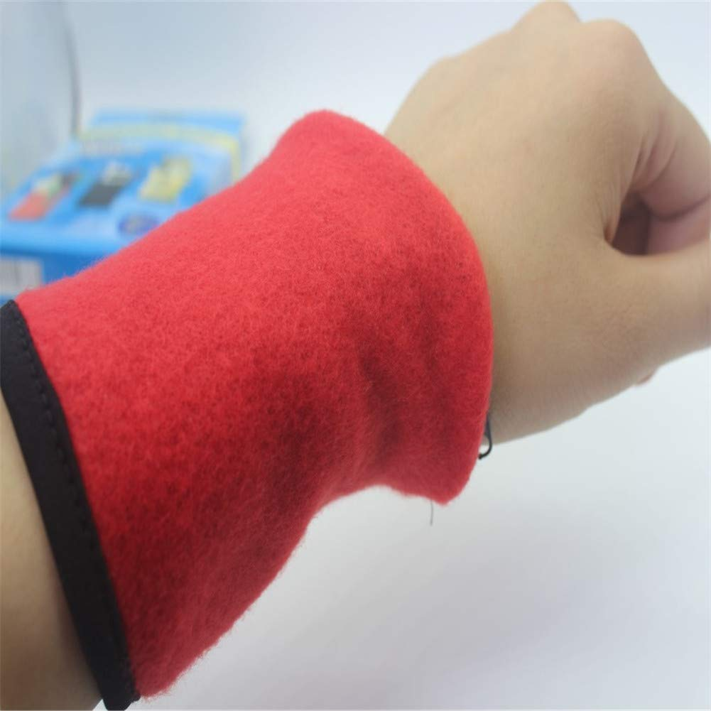 RENNICOCO Thick Solid Color Wristband with Zipper Wrist Wallet Sweatband
