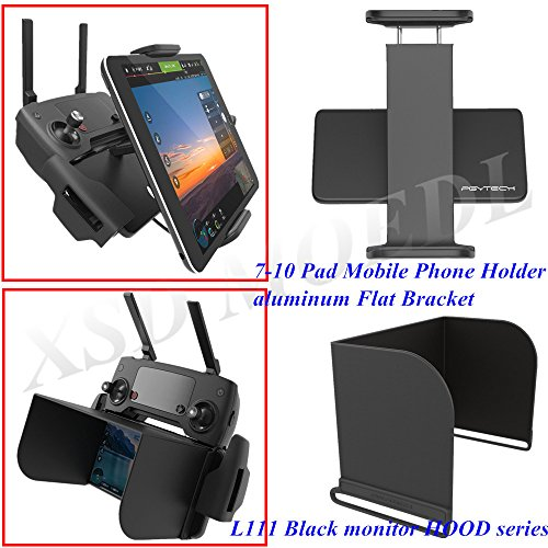 Cheap XSD MODEL PGYTECH monitor hood series L111 Black+remote control 7-10 Pad Mobile Phone Holder aluminum Flat Bracket for DJI Mavic Pro