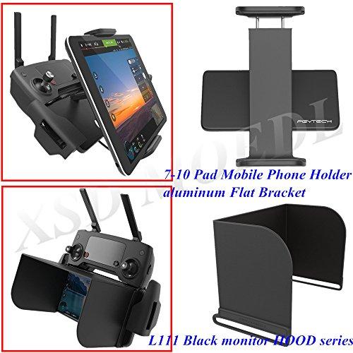 XSD MODEL PGYTECH monitor hood series L111 Black+remote control 7-10 Pad Mobile Phone Holder aluminum Flat Bracket for DJI Mavic Pro