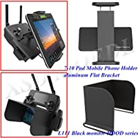 XSD MODEL PGYTECH monitor hood series L111 Black+remote control 7-10 Pad Mobile Phone Holder aluminum Flat Bracket for DJI Mavic Pro