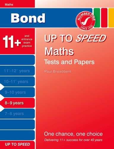 Bond Up to Speed Maths Tests and Papers 8-9 years