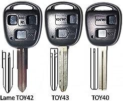 Carcasa de llave Toyota/Land Cruiser con 2 botones - Corolla, Celica, Rav4, Yaris Avensis