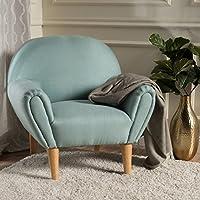 Valby Sky Blue Fabric Arm Chair