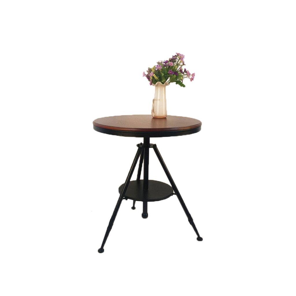 KTYXGKL バーテーブルと椅子の組み合わせアメリカの鉄のコーヒー単純な持ち上げのコーヒーテーブルヨーロッパの小さな丸いテーブルレトロなパズルの小さなコーヒーテーブル 折り畳みテーブル B07KWQTBTH