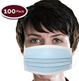 Novapolt Procedure Surgical Earloop Face Mask - Disposable 3 Layer Super Filter for Dust, Bacteria, Pollen, Anti Allergy Dental Medical Procedure Mask Latex Free Box of 100