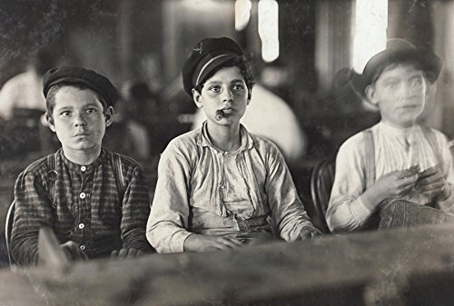 Hine Child Labor 1909 Nthree Young Boys At Work In A Cigar Factory In Tampa Florida Photograph By Lewis Hine 1909 Poster Print by (18 x 24)