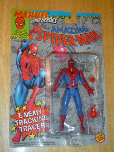 1992 Marvel Spider - Toy Biz Marvel Super Heroes The Amazing Spider-Man Action Figure 4.75 Inches