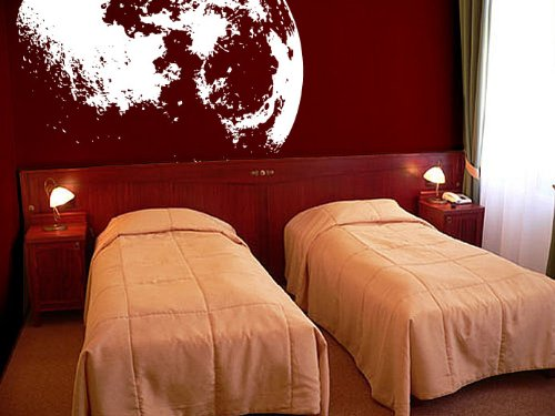#523A Easy to Apply /& Removable. White color Large 53in x 48in Large Crescent Moon Wall Decal Sticker by Stickerbrand