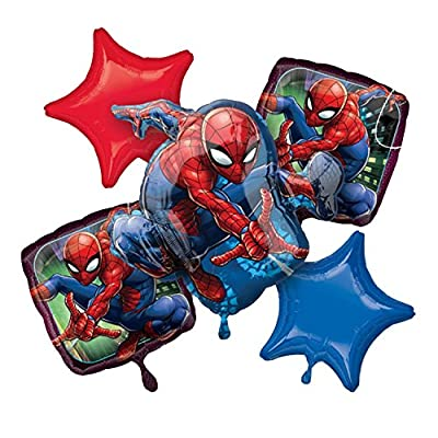ANAGRAM INTERNATIONAL 87916 BOUQUET SPIDER-MAN WEBBED WONDER, Various, Multi: Kitchen & Dining