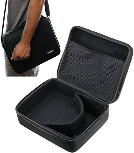 Navitech Black Hard Carry Bag / Case / Cover With shoulder Strap For VR / Virtual Reality 3D headsets including the sidardoe 3d