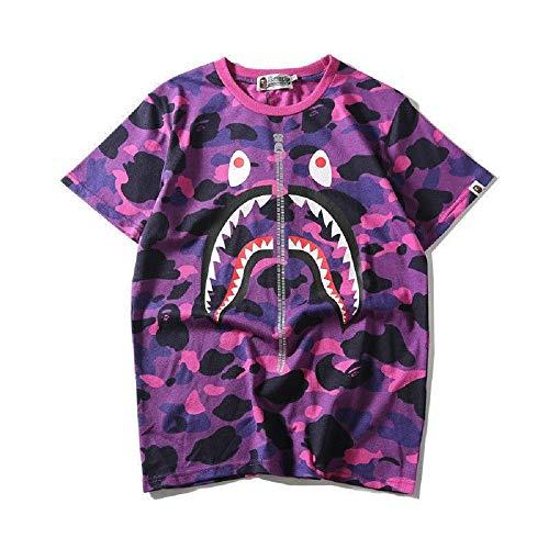 0934fc6a82d Round Neck Shirt Camo Short Sleeves Cotton A Bathing Bape Ape Shark Head T- Shirt. by griffith nancy