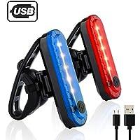 Yuwumin Rear Bike Tail Light,Ultra Bright USB...
