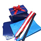 PEPPERLONELY Set of 10 6x4x4 Royal Blue Decorative Christmas Gift Boxes Gift Packaging Boxes For Presents, Holiday Bakery Boxes For Cookies, Wedding Favor Boxes, Pull Bows and Tissue Paper Included