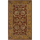 Safavieh Heritage Collection HG820A Handcrafted Traditional Oriental Red and Natural Wool Area Rug (2′ x 3′)