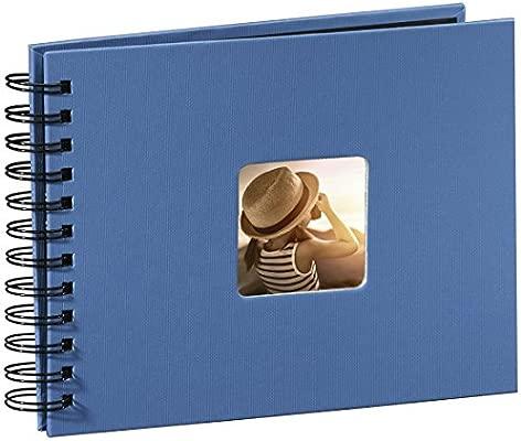 Hama Fine Art Fotos, 50 páginas Negras (25 Hojas), aacutelbum con Espiral, 24 x 17 cm, con Compartimento para Insertar Foto, Azur Azul, Papel, 23,80 x ...