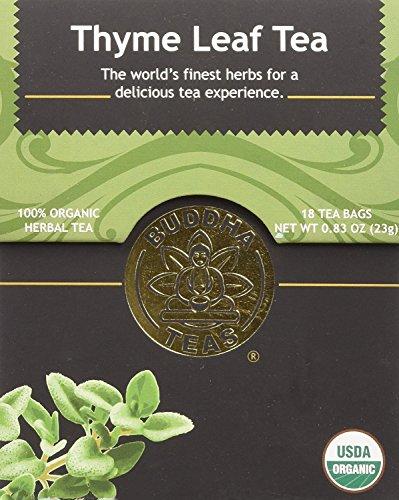Organic Thyme Leaf Tea - Kosher, Caffeine Free, GMO-Free - 18 Bleach Free Tea Bags