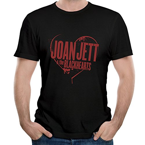 Roy Men's Joan Jett & The Blackhearts Crimson $ Clover Song Polo Shirt T-Shirt Black