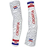 Croatia ScudoPro Compression Arm Sleeves UV Protection Unisex - Walking - Cycling - Running - Golf - Baseball - Basketball