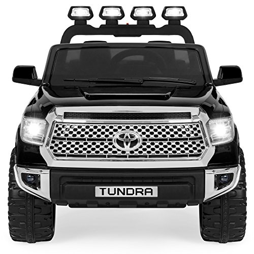 Best Choice Products 12V Electric RC Toyota Tundra Ride-On Truck with LED Lights/Sound, Black (Best Wheels For Tundra)