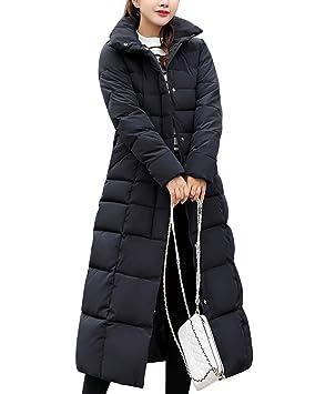 Guiran Mujer Abrigos Plumas con Capucha Invierno Espesar Cálido Chaquetas Largo Parkas Slim Fit: Amazon.es: Deportes y aire libre